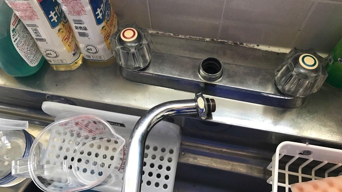 混合水栓水漏れ修理