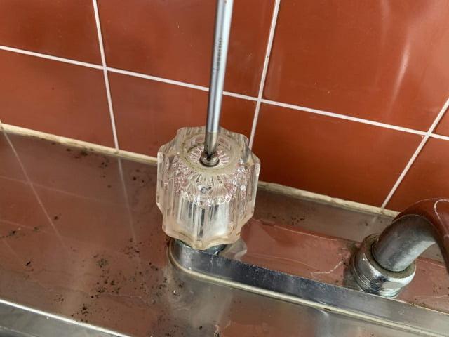 混合水栓水パッキン交換