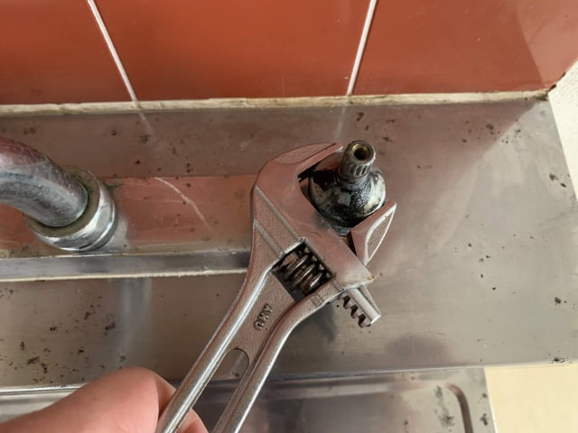 混合水栓パッキン交換