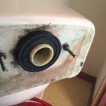 便器とタンクの間からの水漏れを直す 密結パッキン