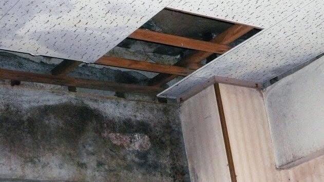 天井から水漏れ
