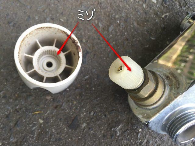 水栓のハンドルが外せない