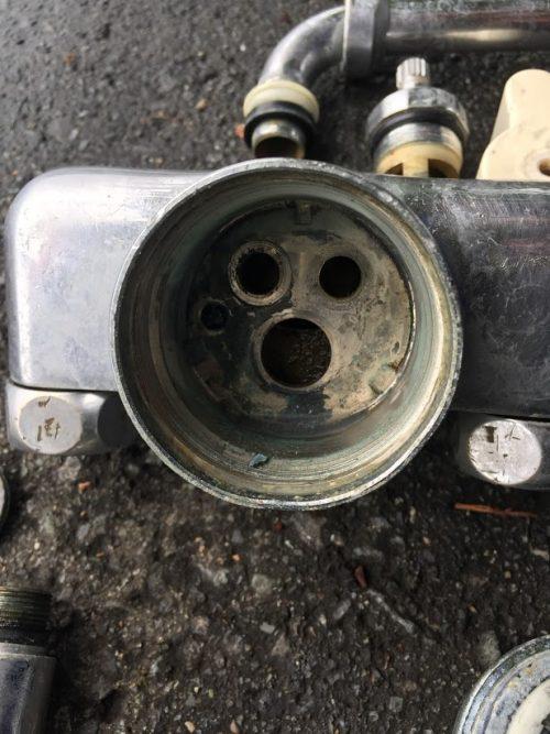 シングルレバー混合水栓の分解