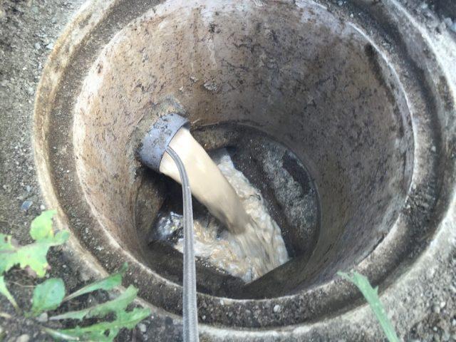 ケルヒャー高圧洗浄機排水管のつまり