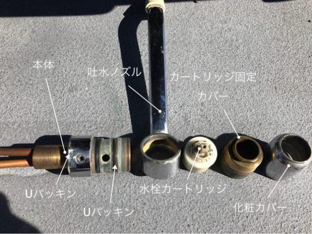 シングルレバー混合水栓分解